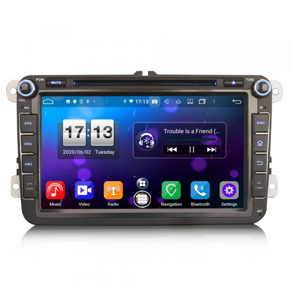 Navigatie auto 2 din, Pachet dedicat VW Seat Skoda, Android 10, 7 inch, Octa Core 0