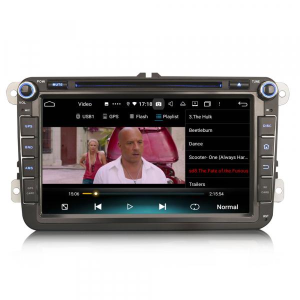 Navigatie auto 2 din, Pachet dedicat VW Seat Skoda, Android 10, 7 inch, Octa Core 3