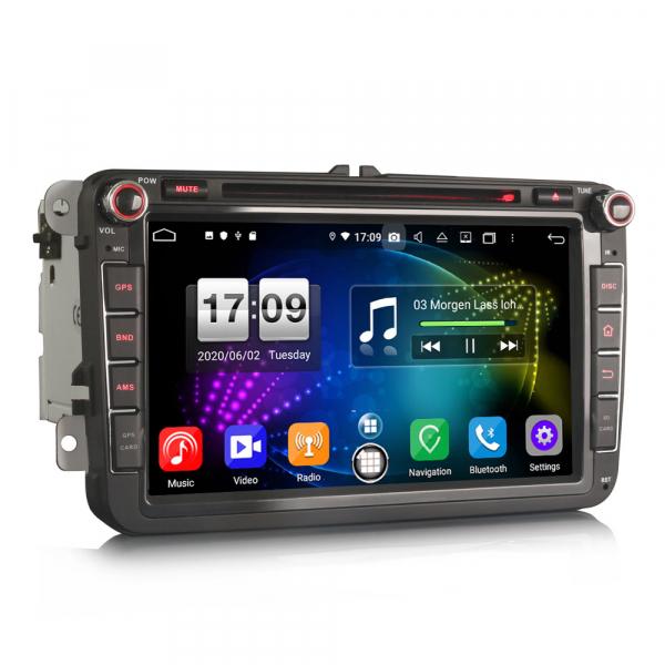 Navigatie auto 2 din, Pachet dedicat VW Seat Skoda, Android 10, 7 inch, Octa Core 4