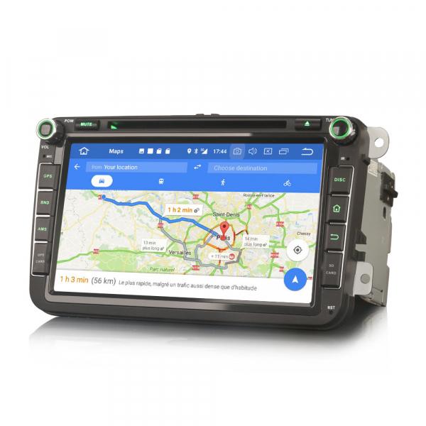 Navigatie auto 2 din, Pachet dedicat VW Seat Skoda, Android 10, 7 inch, Octa Core 5