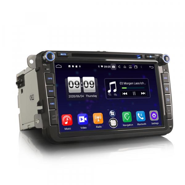 Navigatie auto 2 din, Pachet dedicat VW Seat Skoda, Android 10, 7 inch, Octa Core 6