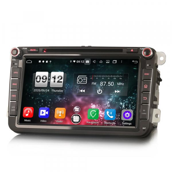 Navigatie auto 2 din, Pachet dedicat VW Seat Skoda, Android 10, 7 inch, Octa Core 1