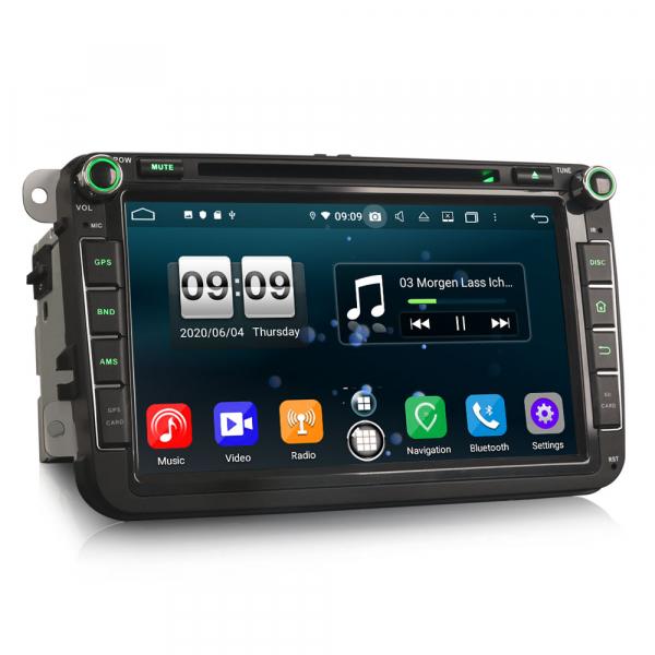 Navigatie auto 2 din, Pachet dedicat VW Seat Skoda, Android 10, 7 inch, Octa Core 2