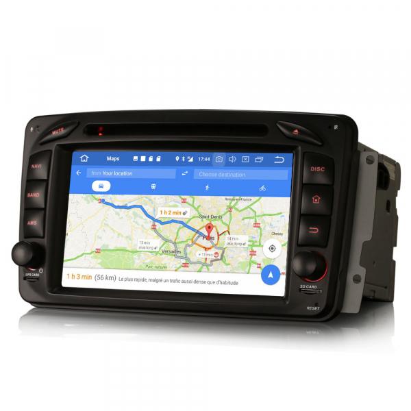 Navigatie auto , Pachet dedicat Mercedes BENZ C/CLK/G Class Vito Viano, Android 10, 7 Inch, Octa Core 6