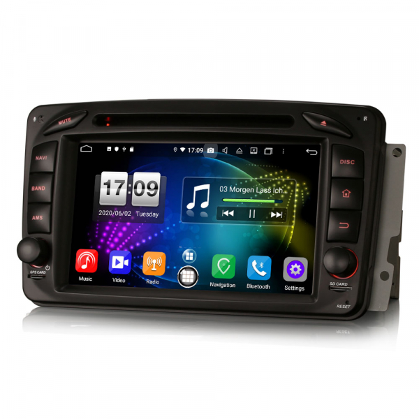 Navigatie auto , Pachet dedicat Mercedes BENZ C/CLK/G Class Vito Viano, Android 10, 7 Inch, Octa Core 4