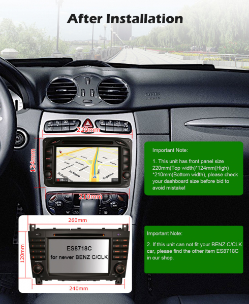 Navigatie auto , Pachet dedicat Mercedes BENZ C/CLK/G Class Vito Viano, Android 10, 7 Inch, Octa Core 8