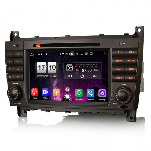 Navigatie auto , Pachet dedicat Mercedes Benz C/CLC/CLK Klasse W203 W209, Android 10, 7 Inch, Octa Core 4