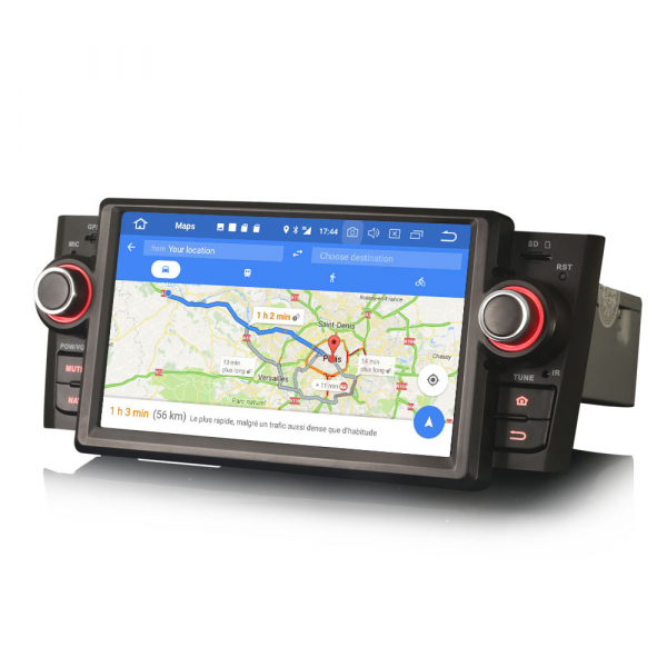 Navigatie auto, Pachet dedicat Fiat Punto Linea,7 inch, Android 10, Octa Core 4