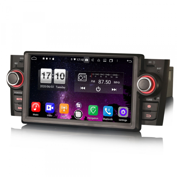Navigatie auto, Pachet dedicat Fiat Punto Linea,7 inch, Android 10, Octa Core 2