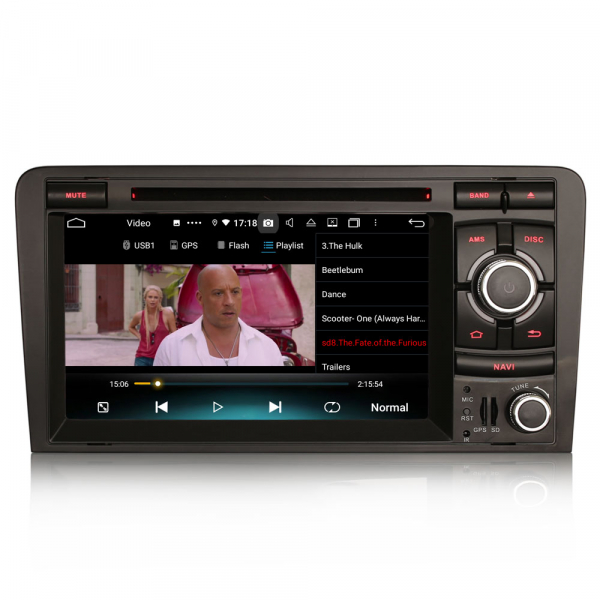 Navigatie auto, Pachet dedicat  AUDI A3 S3 RS3 RNSE-PU,7 inch, Android 10, Octa Core 6