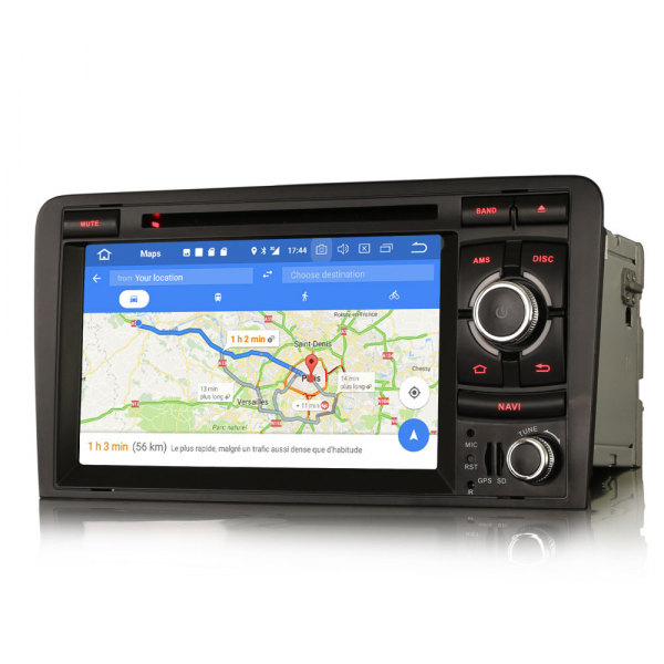 Navigatie auto, Pachet dedicat  AUDI A3 S3 RS3 RNSE-PU,7 inch, Android 10, Octa Core 7