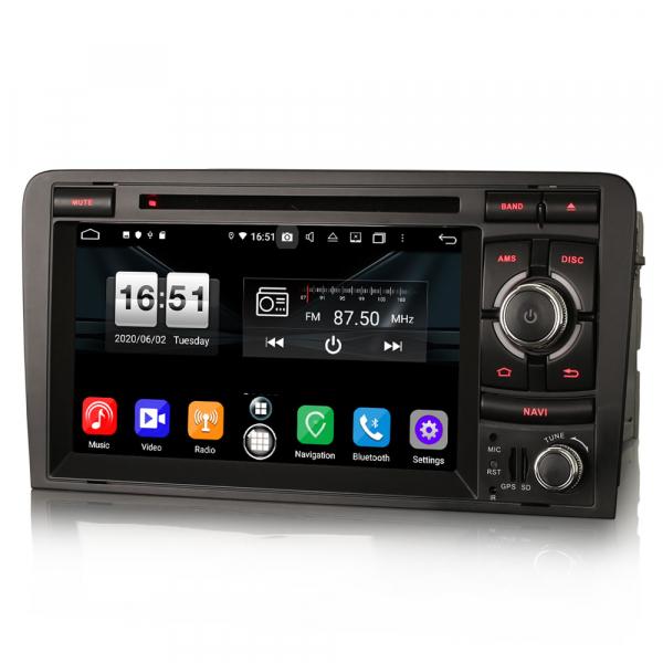 Navigatie auto, Pachet dedicat  AUDI A3 S3 RS3 RNSE-PU,7 inch, Android 10, Octa Core 3