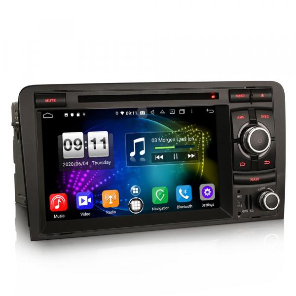 Navigatie auto, Pachet dedicat  AUDI A3 S3 RS3 RNSE-PU,7 inch, Android 10, Octa Core 4