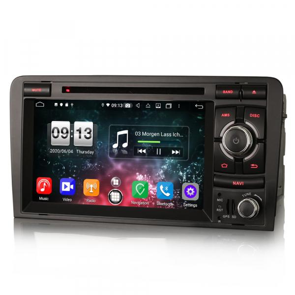 Navigatie auto, Pachet dedicat  AUDI A3 S3 RS3 RNSE-PU,7 inch, Android 10, Octa Core 5