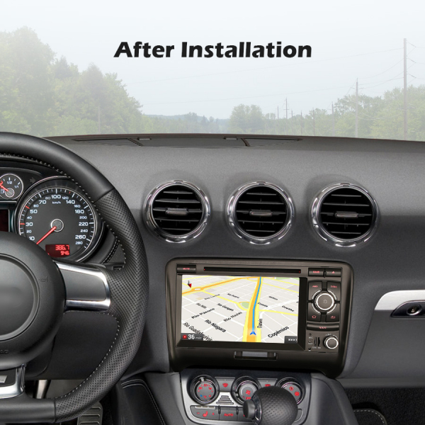 Navigatie auto, Pachet dedicat Audi TT ,7 inch, Android 10, Octa Core 8