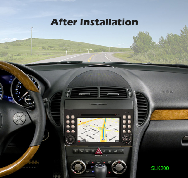 Navigatie auto, Pachet dedicat Mercedes-Benz SLK R171 ,7 inch, Android 10, Octa Core 8
