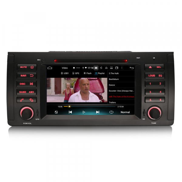 Navigatie auto, Pachet dedicat BMW 5 Series E39 E53 X5 M5, Android 10.0, 7 Inch, Octa Core 6