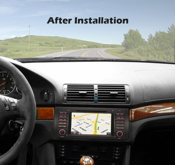 Navigatie auto, Pachet dedicat BMW 5 Series E39 E53 X5 M5, Android 10.0, 7 Inch, Octa Core 8