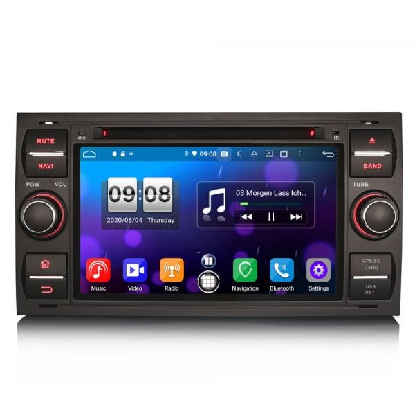 Navigatie auto 2 din, Pachet dedicat Ford C/S-Max Galaxy Kuga Focus Transit, 7 Inch, Android 10.0, Octa Core [0]
