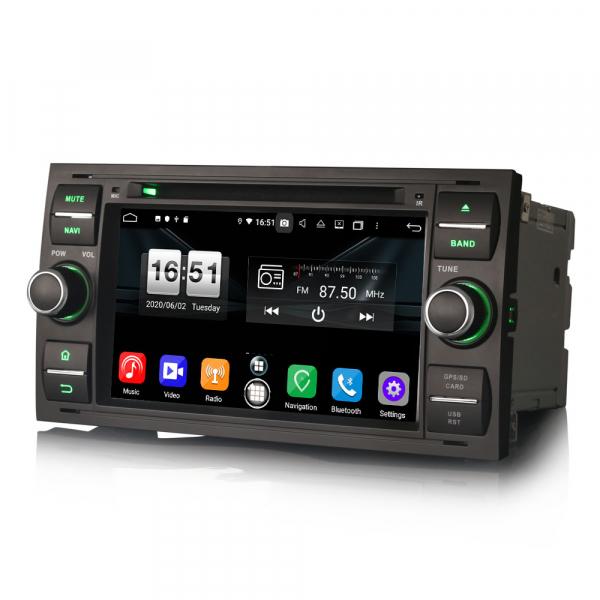 Navigatie auto 2 din, Pachet dedicat Ford C/S-Max Galaxy Kuga Focus Transit, 7 Inch, Android 10.0, Octa Core [5]