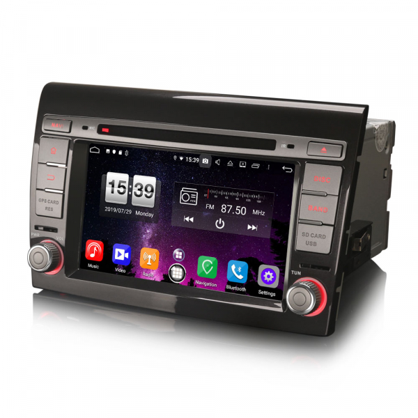 Navigatie auto 2 din, Pachet dedicat  Fiat Bravo, 7 Inch, Android 10.0, Octa Core 6