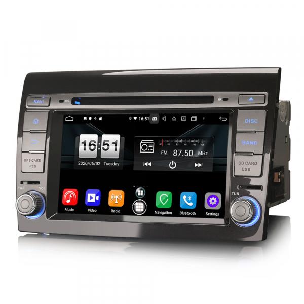 Navigatie auto 2 din, Pachet dedicat  Fiat Bravo, 7 Inch, Android 10.0, Octa Core 1