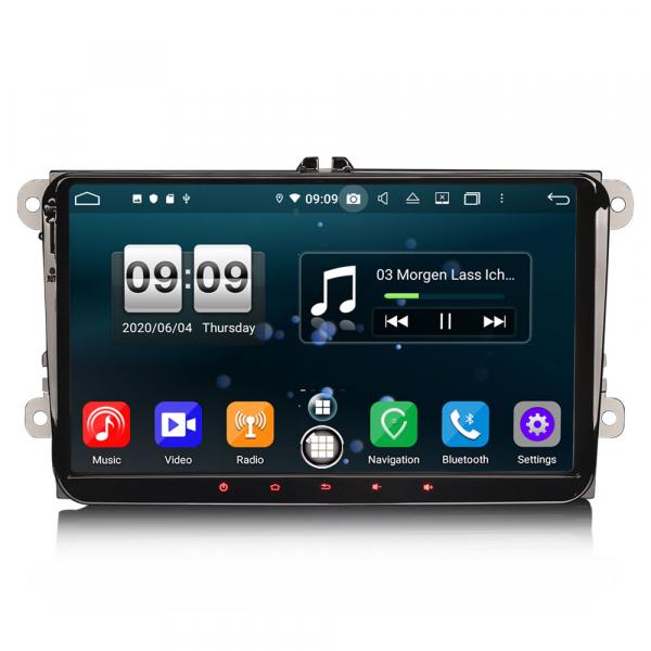 Navigatie auto 2 din, Pachet dedicat VW Golf Passat Tiguan Polo Eos Seat Skoda Stereo, Android 10, 9 inch, Octa Core 0