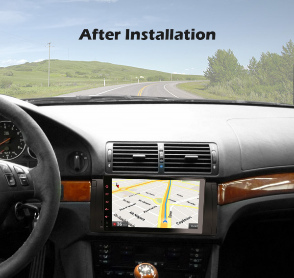 Navigatie auto, Pachet dedicat BMW seria 5, Android 10.0,9 Inch, Octa Core 9