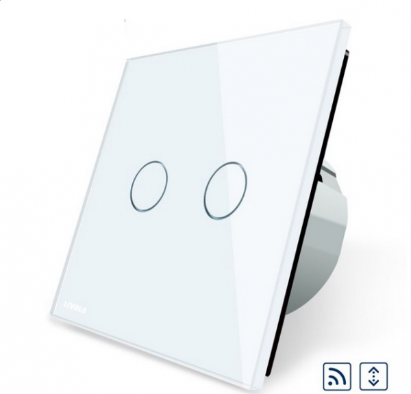 Intrerupator draperie wireless cu touch Livolo din sticla 0