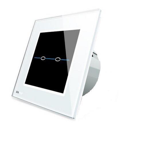 Intrerupator dublu cu touch Livolo din sticla - Seria R 1