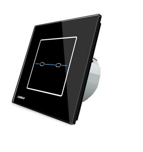 Intrerupator dublu cu touch Livolo din sticla - Seria R 0