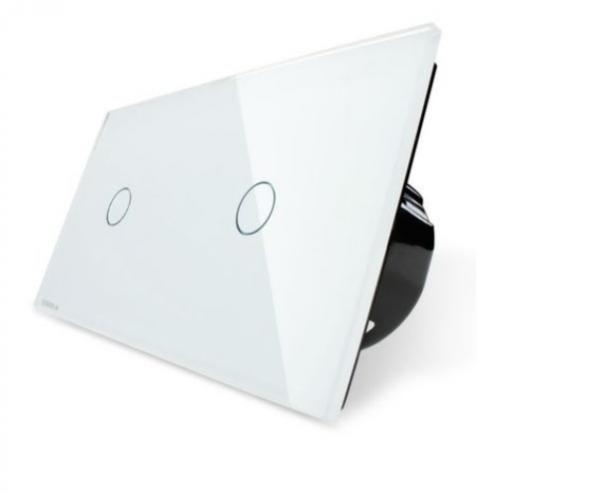 Intrerupator simplu + simplu cu touch Livolo din sticla [2]