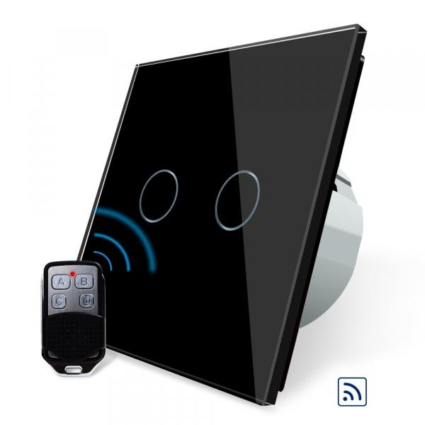 Intrerupator dublu cu touch Livolo, Wireless, Telecomanda inclusa 3