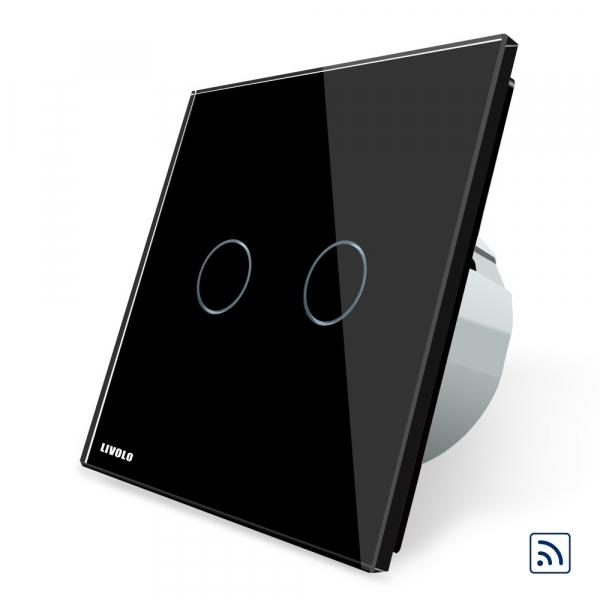 Intrerupator dublu wireless cu touch Livolo din sticla [4]