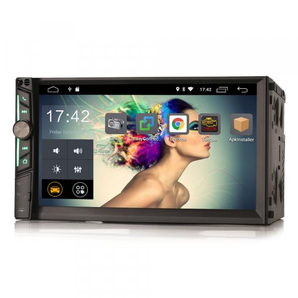Multimedia player auto, 2 din universal,  Android 10.0 ,Quad core CPU, 2GB Ram; Camera marsarier si ObdII inclus 7