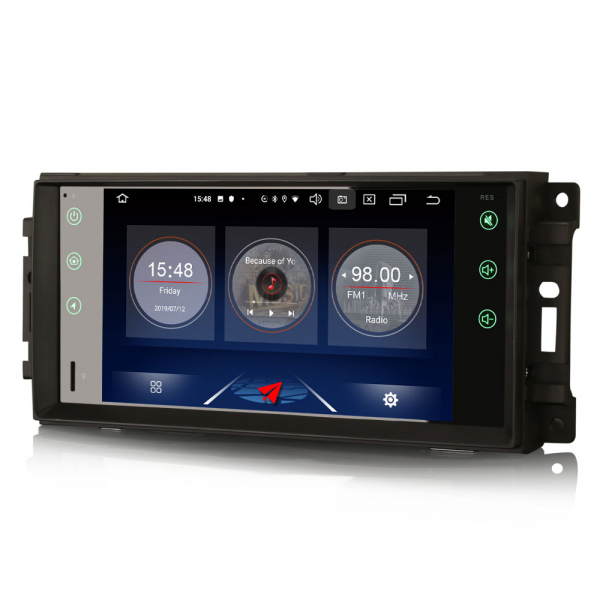 Navigatie auto, Pachet dedicat Jeep Compass Chrysler Dodge, Android 10.0, 7 Inch [5]