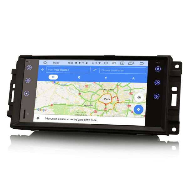 Navigatie auto, Pachet dedicat Jeep Compass Chrysler Dodge, Android 10.0, 7 Inch [8]