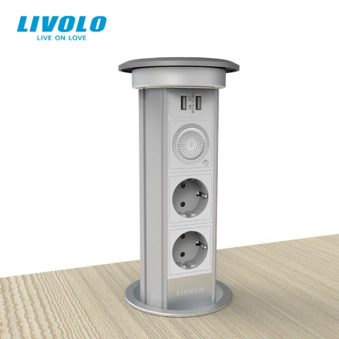Priza inteligenta, incorporabila, retractabila, control din aplicatie, Bluetooth, Livolo [0]