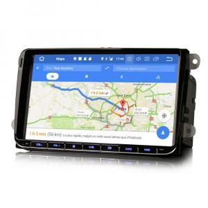 Navigatie auto 2 din, Pachet dedicat VW/SEAT/SKODA, Android 10 , WIFI+GPS, 9 inch,, DAB+,Quad core CPU, 2GB Ram,16GB memorie interna3