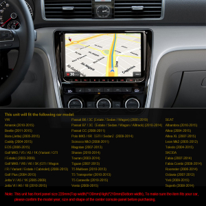 Navigatie auto 2 din, Pachet dedicat VW/SEAT/SKODA, Android 10 , WIFI+GPS, 9 inch,, DAB+,Quad core CPU, 2GB Ram,16GB memorie interna4