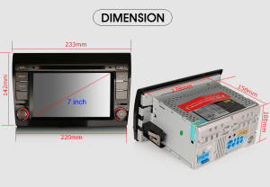 Navigatie auto, Pachet dedicat Fiat Bravo ,7 inch, Android 10, GPS, WIFI, DAB+, 2GB RAM, 16GB memorie interna7