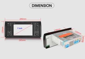 Navigatie auto, Pachet dedicat BMW seria 5 E39 E53 X5 M5, Android 10.0, 2GB RAM, 16GB memorie interna8