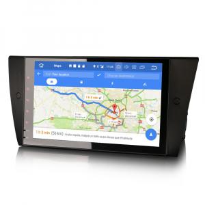 Navigatie auto 2 din, Pachet dedicat BMW 3 Series E90 E91 E92 E93, Android 10.0, 9 inch, DAB+,Quad core CPU, 2GB Ram,16GB memorie interna6
