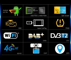 Navigatie auto 2 din, Pachet dedicat BMW M5 5er E39 E53 X5, Android 10 , WIFI+GPS, 9 inch,, DAB+,Quad core CPU, 2GB Ram,16GB memorie interna [4]