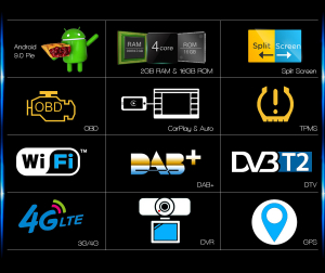 Navigatie auto 2 din, Pachet dedicat Mercedes R Class W251, Android 10 , WIFI+GPS, 9 inch,, DAB+,Quad core CPU, 2GB Ram,16GB memorie interna [4]