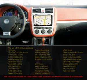 Navigatie auto 2 din, Pachet dedicat VW/SEAT/SKODA, Android 10.0, 9 inch,Quad core CPU [3]