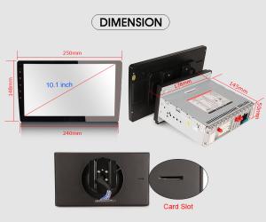 Navigatie auto universala/Multimedia player cu articulatie rotativa reglabila,10.1 inch, Android 9.0, WiFi DAB+ GPS TNT DVR Bluetooth [8]
