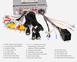 Navigatie auto universala/Multimedia player cu articulatie rotativa reglabila,10.1 inch, Android 9.0, WiFi DAB+ GPS TNT DVR Bluetooth [9]