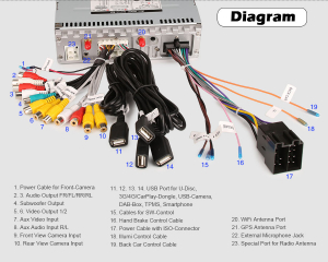Navigatie auto universala/Multimedia player cu articulatie rotativa reglabila,10.1 inch, Android 10, Quad Core, 2Gb Ram9