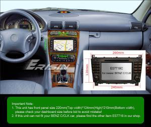 Navigatie auto, Pachet dedicat Mercedes BENZ C/CLK/G Class Vito Viano, Android 9.0, 7 inch, DAB+,8-Core CPU. [11]